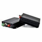 Digital Video Optical Transmitter + Receiver Converter w/ US Plug - Black (100~240V)