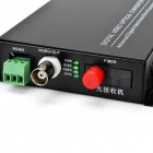 Digital Video Optical Transmitter + Receiver Converter w/ US - Black