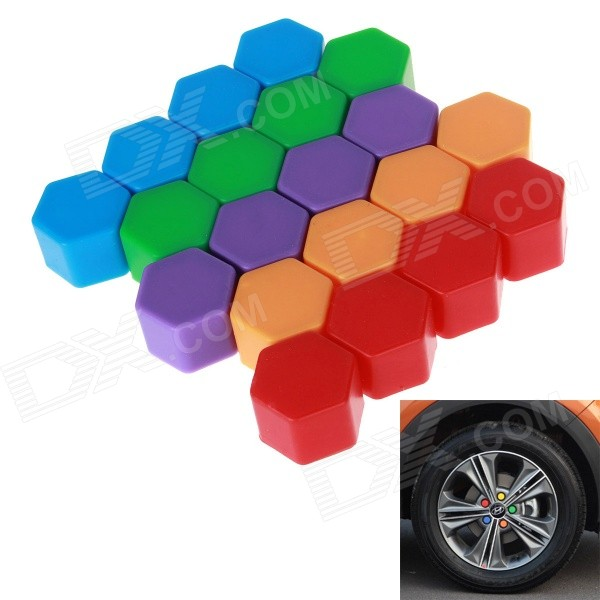 19 silicone de roue de voiture couvercles de vis de moyeu rouge vert 20mm 20pcs. Black Bedroom Furniture Sets. Home Design Ideas