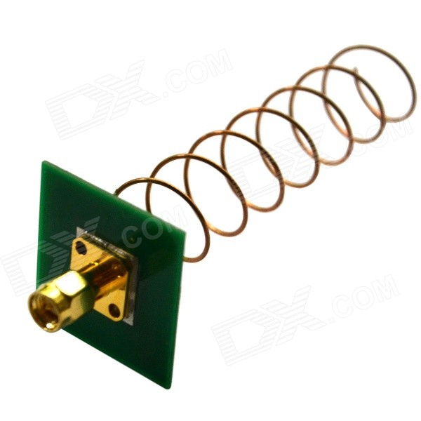 High Gain 5.8GHz 11dbi Helical Antenna Internal Thread Needle - Green