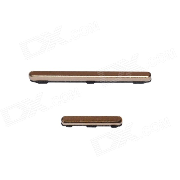Replacement Volume Keys + Power On / Off Key Set for Samsung S5 - Gold