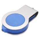 360' Rotary USB 2.0 Flash Drive w/ LED - Blue+Silver (16GB, 1*CR2016)