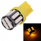 MZ T10 5W LED Car Steering / Signal / Clearance Lamp Yellow 597nm 400lm SMD 7020 - Yellow (12V)