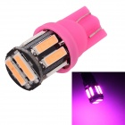 MZ T10 5W LED Car Steering / Signal / Clearance Lamp Pink Light 380nm 400lm SMD 7020 - Pink (12V)
