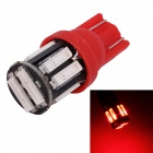 MZ T10 5W LED Car Steering / Signal / Clearance Lamp Red Light 660nm 400lm SMD 7020 - Red (12V)