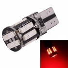 MZ T10 5W LED Car Clearance Lamp Red Light 660nm 400lm SMD 7020 Decoding CANBUS Error-Free (12V)