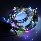 10W 190-LED Light String 280lm RGB Light - Black + SIlver White