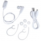 BT-222 Portable Sports In-ear Bluetooth V4.0 Earphone w/ Mic - White