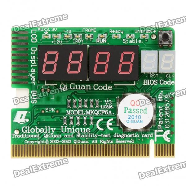 PC Motherboard Repair/Troubleshoot Diagnostic PCI Card (6-Digit Codes)