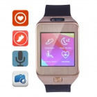 "Aoluguya G2 1.54"" Touch Smart Watch w/ Heart Rate Monitor/Pedometer/Bluetooth/0.3MP Camera - Golden"
