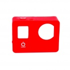 PANNOVO G-795 Protective Silicone Shell Case for GoPro Hero 4 / 3+ / 3 - Red