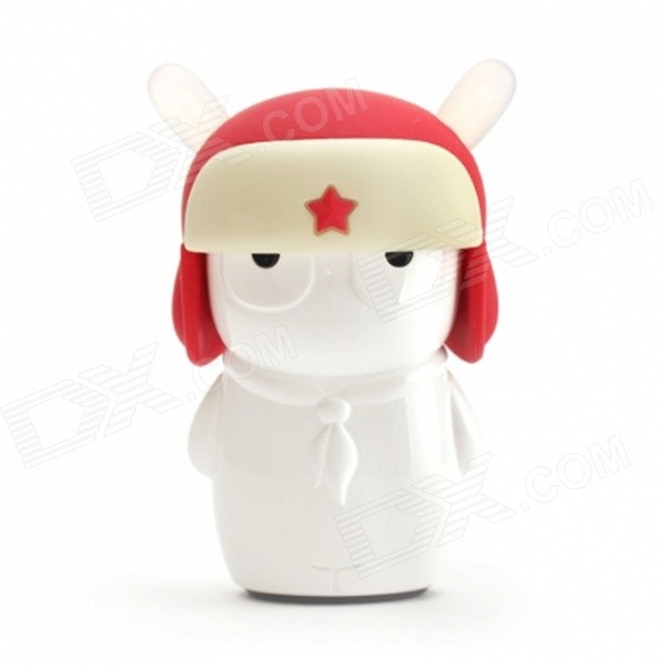 XIAOMI Universal Rabbit Style 5200mAh Li-po Mobile USB Power Bank - White + Red
