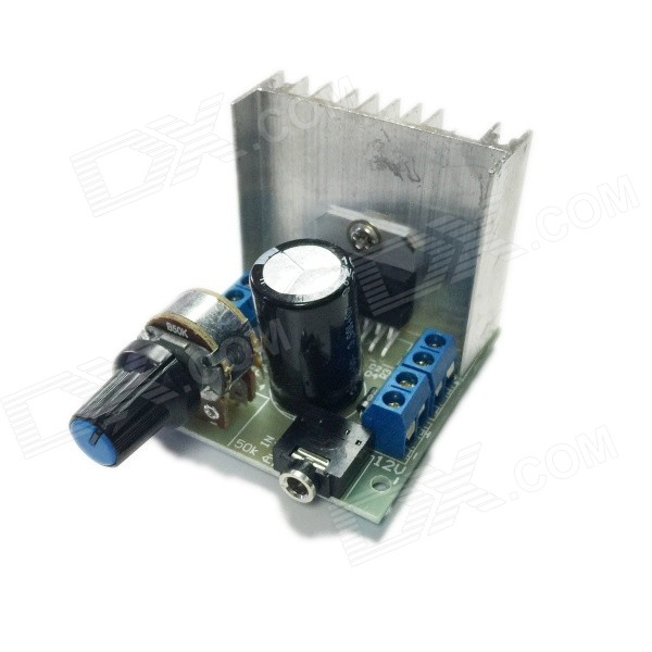 AT102 Dual Channel Noiseless TDA7297 Power Amplifier Module - Black