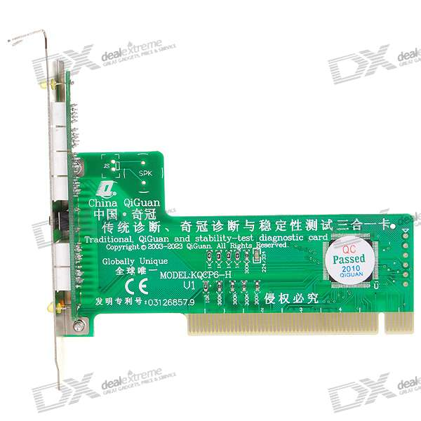 PC Motherboard Repair/Troubleshoot Diagnostic PCI Card with Orifice Plate (6-Digit Codes)
