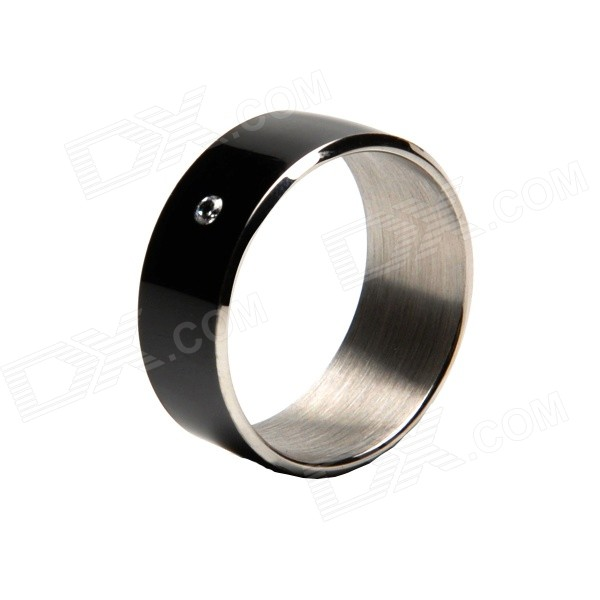 TIMER 2 Waterproof 13.5MHz Smart Ring w/ NFC - Black (Size 10)