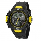 VILAM Men's Sports Waterproof PU Band Analog + Digital Wrist Watch w/ EL Light (1 x 626)