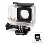 TOZ GP284 Side Open Protective Case Housing Shell for GoPro Hero 4 / 3+ - Transparent + Black