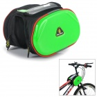 WOLFBIKE BCB-001-G Outdoor Cycling Bike Top Tube Double Bag - Fluorescent Green + Black