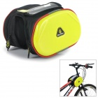 WOLFBIKE BCB-001-Y Outdoor Cycling Bike Top Tube Double Bag - Yellow + Black
