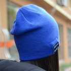 Stylish Bluetooth V3.0 Woven Acrylic Fiber Warm Music Hat - Blue