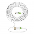 YB113 64-Core Copper Wire High-Speed USB 2.0 Male to Micro USB Male Charging Data Cable - White (3m)