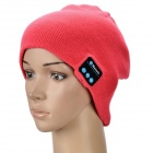 Stylish Bluetooth V3.0 Woven Acrylic Fiber Warm Music Hat - Pink