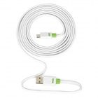 YB112 USB 2.0 Male to Micro USB Male Charging Data Cable - White (2m)