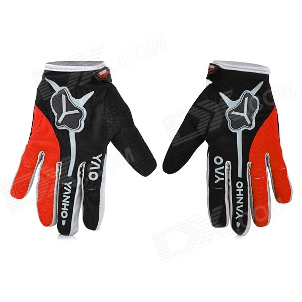 Yanho YAS366 Full-Finger Cycling Gloves - Black + Red (Pair / M)