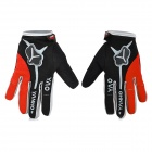 Yanho YAS366 Warm Full-Finger Fleece Cycling Gloves - Black + Red + Multi-Colored (Pair / M)