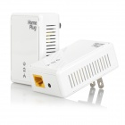 US Plug 200Mbps Smart Wireless Power Line Ethernet Router Set - White