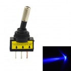 Jtron 12V Car Modification Power Toggle Switch w/ Blue LED Indicator - Black
