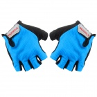 NUCKILY PC03 Breathable Wearable Half-Finger Outdoor Cycling Gloves - Blue (M / Pair)
