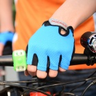 NUCKILY PC03 Breathable Half-Finger Outdoor Cycling Gloves - Blue (M)
