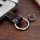 USB-6 Whistle Style 8GB USB 2.0 Flash Drive w/ Keyring - Black+Silver