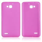 DF-002 Protective TPU Back Case w/ Anti-dust Plugs for Huawei Honor 3X G750 - Deep Pink