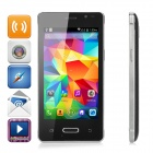 "Mini-N910 Android 4.4.2 3G Smart telefon med 4.0"" WVGA IPS, Wi-Fi, GPS, Bluetooth - Black + sølv"