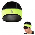 WOLFBIKE BC321-G Outdoor Cycling Warm Fleece Fabric Hat - Fluorescent Green + Black
