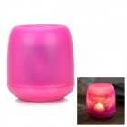 Flameless Blow on / off Sound Sensor Warm White Light LED Candle Holiday Lamp - Deep Pink (3 x AG13)
