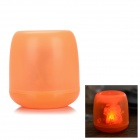 Flameless Blow on / off Sound Sensor Red Light LED Candle Holiday Lamp - Orange (3 x AG13)
