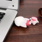 Cute Cartoon Smile Girl Style USB 2.0 Flash Drive - White (8GB)