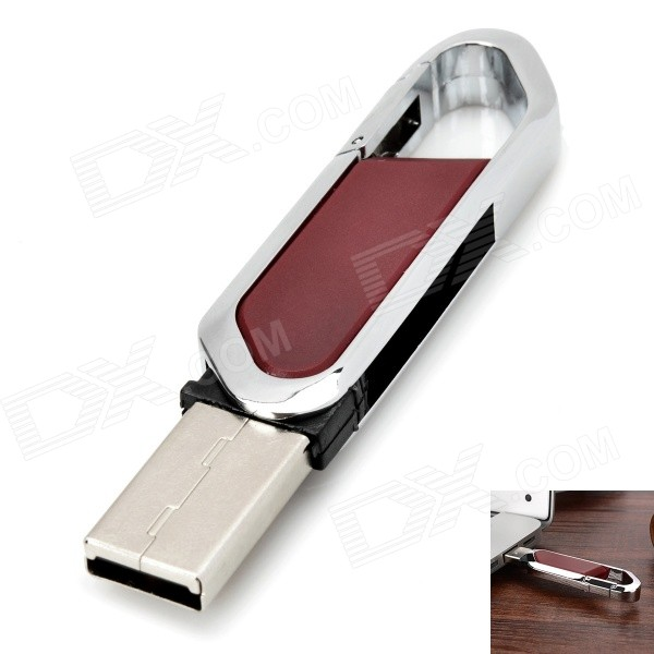 Cutter Style USB 2.0 Flash Drive - Brown + Silver (16GB)