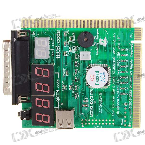 PC Motherboard Repair/Troubleshoot Diagnostic PCI/USB/ISA/Parallel Card (6-Digit Codes)
