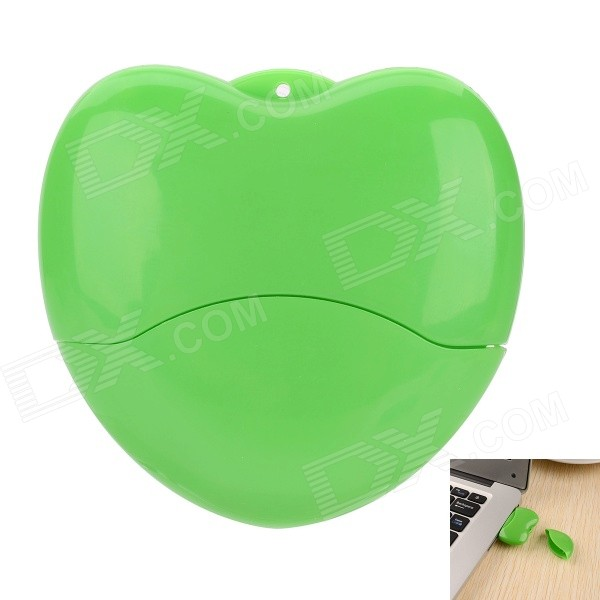 USB-20 Heart Shaped USB 2.0 Flash Drive - Green (16GB)