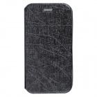 Protective PU Leather Flip-Open Case w/ Stand for Alcatel One Touch Pop D5 - Black