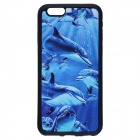 """3D Dolphins Pattern Protective TPU Soft Back Case for IPHONE 6 4.7"""" - Blue"""