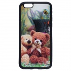 "Fashionable 3D Doll Bears Pattern Protective TPU Soft Back Case for IPHONE 6 4.7"" - Coffee"