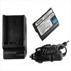 Ismartdigi EL15 7.0V 1900mAh Camera Battery + Car Charger for Nikon D7000/D7100