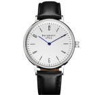 Genuine Bergmann 1911 Men's Classic Analog Quartz Watch - Black + White