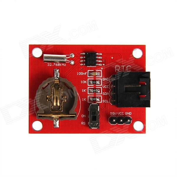 Geeetech BOT-06661 Real Time Clock RTC DS1307 Module for Arduino - Red