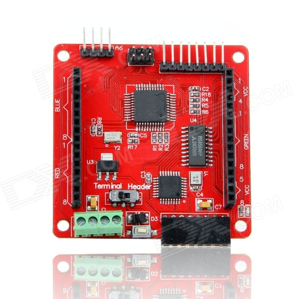 Geeetech Full Color RGB Dot Matrix Screen LED Driver Shield for Arduino - Red(SKU 377247)